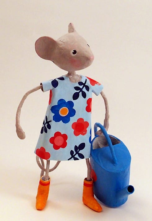 """Petite souris """"Julietta"""" papier mâché: Art de style  par FraNbulle"""