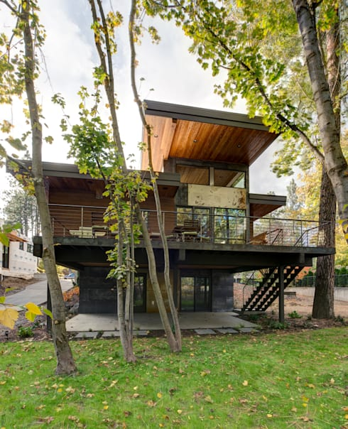 Projekty,  Domy zaprojektowane przez Uptic Studios