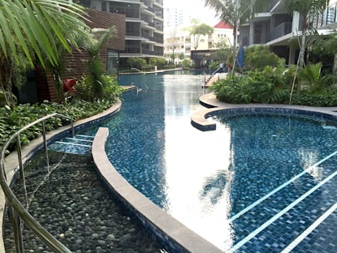 Boathouse Residences: tropical Garden by Tinderbox  Landscape Studio
