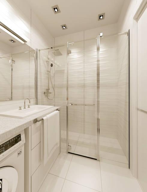Лофт для молодой девушки: Ванная комната в . Автор – ООО 'Студио-ТА'