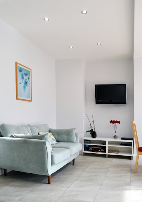 Living Room - As Built:  Living room by Arc 3 Architects & Chartered Surveyors