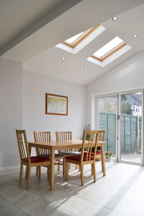 Dining Room And Roof Light - As Built:  Dining room by Arc 3 Architects & Chartered Surveyors