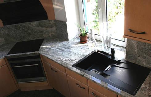 Granit White Fusion von Wieland Naturstein GmbH | homify | {Granit küchenarbeitsplatte 21}