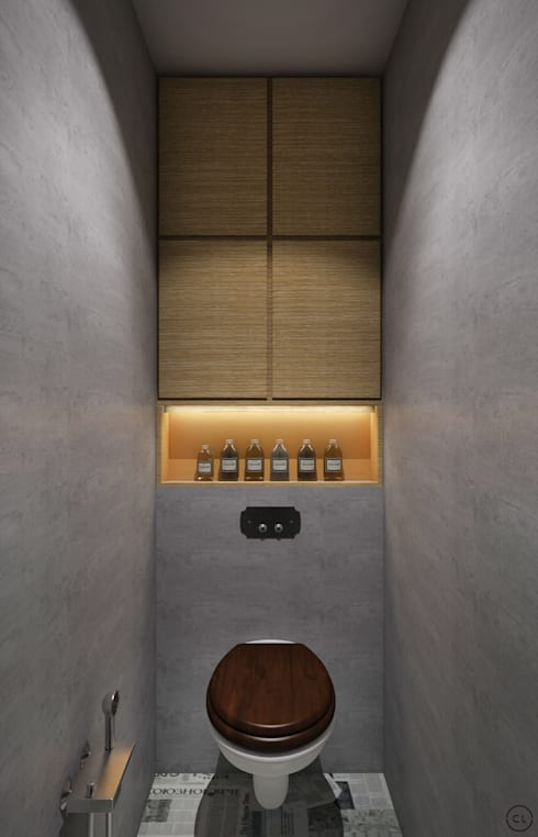 Средиземноморский лофт для молодой семьи: Ванные комнаты в . Автор – Circle Line Interiors