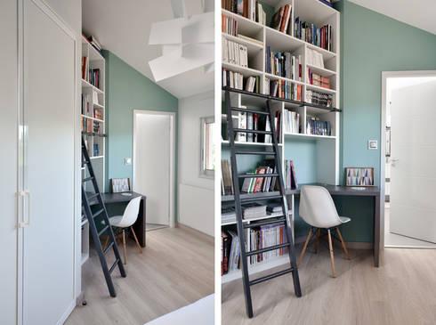 Modern bedroom by marion lanoë architecte dintérieur