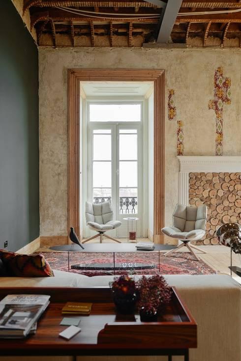 Pal cio igl sias chiado por spaceroom interior design for Sala de estar palacio