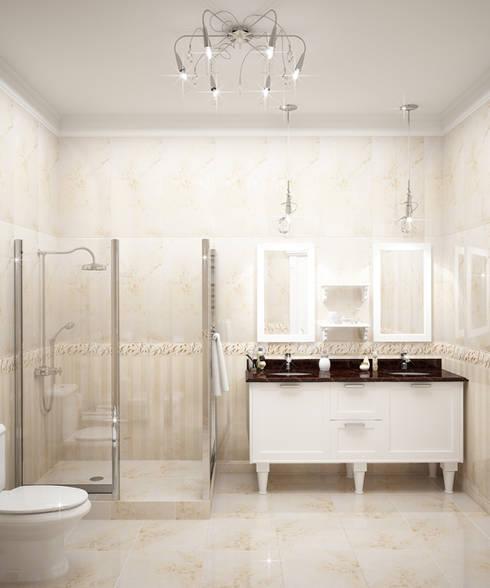 Baños de estilo  por Виктория Лаврик