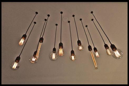 luminaire industriel sur mesure ampoule filament vintage par c 39 design homify. Black Bedroom Furniture Sets. Home Design Ideas