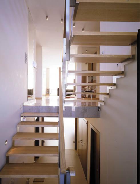 schody: styl , w kategorii Korytarz, przedpokój zaprojektowany przez Atelier Loegler Architekci
