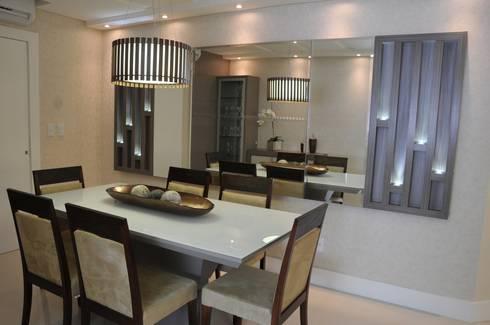 Sala de Jantar: Sala de jantar  por Luizana Wiggers Projetos