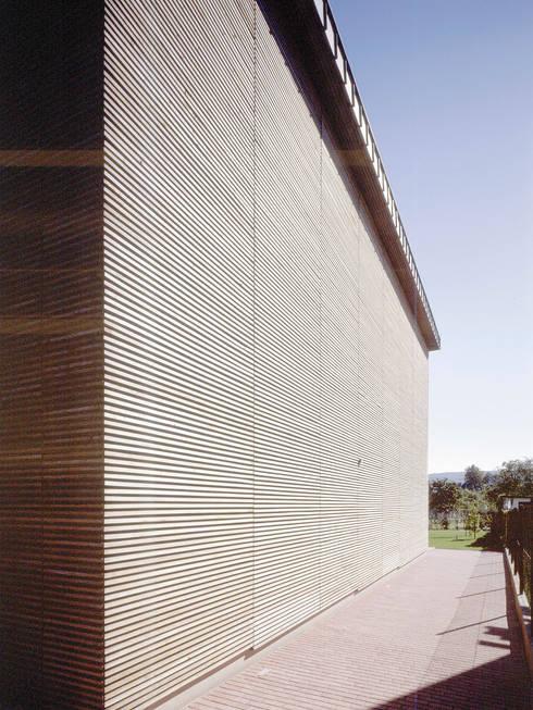 elewacja boczna: styl , w kategorii Domy zaprojektowany przez Atelier Loegler Architekci