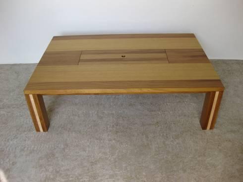 Table Basse Design En Bois Diroko Et Frêne Avec Son Jardin Casier