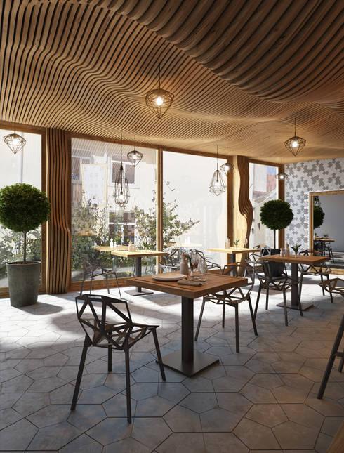 Restaurantes de estilo  por MONTE FEE INTERIOR DESIGN STUDIO