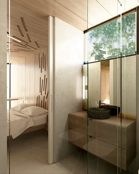 Casa Extremadura: Baños de estilo rural de Estudio de Arquitectura Teresa Sapey