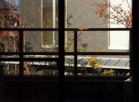 ARGA 姶良の雑木林の家: 太田則宏建築事務所が手掛けたベランダです。