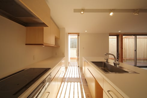 長尾台の家: 吉田慎二/建築・計画ワイズスタジオが手掛けたキッチンです。