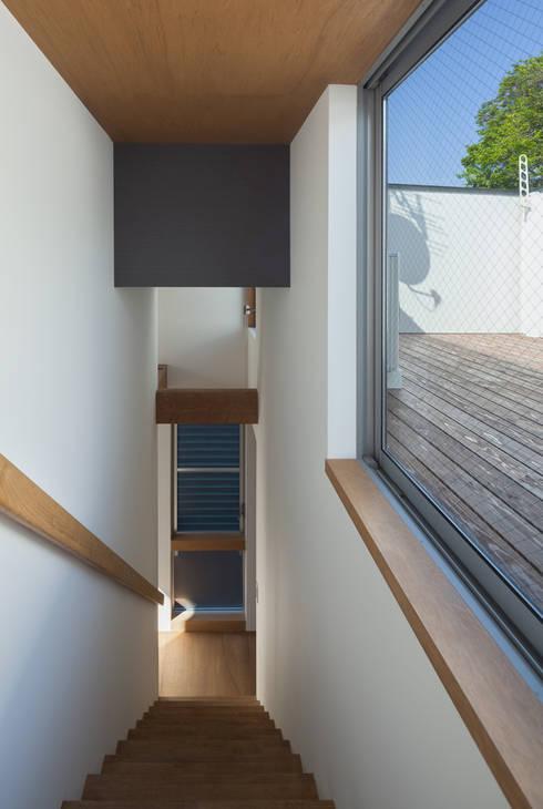 anguilla house: 吉田慎二/建築・計画ワイズスタジオが手掛けたベランダです。