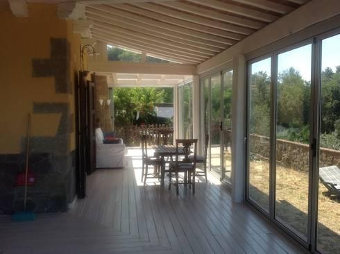 Veranda in legno toscana di le verande srls homify - Veranda in giardino ...