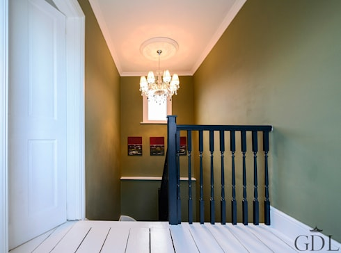 The Broadway, SW19—Extension & Bathroom Renovation: classic Corridor, hallway & stairs by Grand Design London Ltd