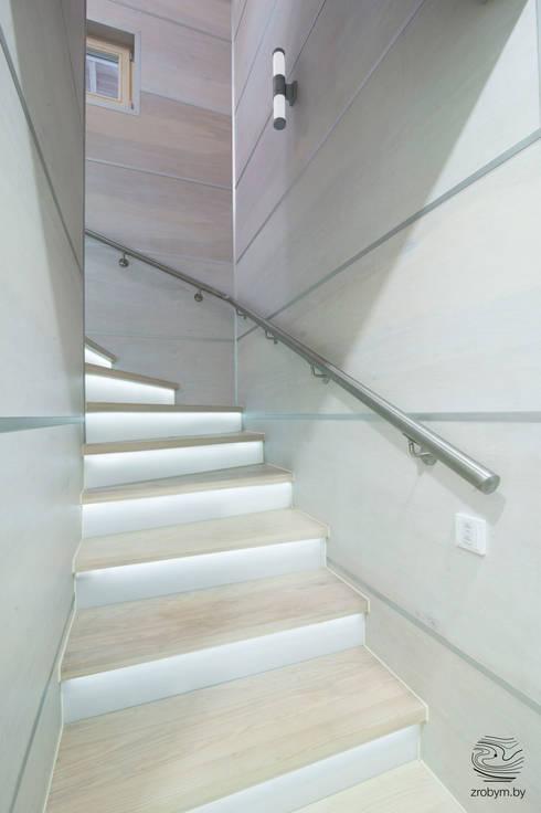 Projekty,  Korytarz, przedpokój zaprojektowane przez ZROBYM architects