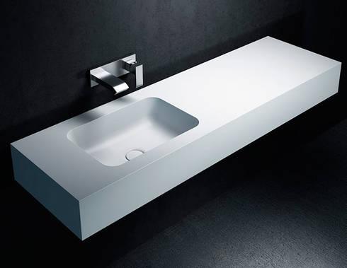Lavabo de Corian® TORONTO con Encimera a medida. de Baños de Autor ...