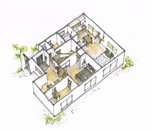 1F鳥瞰図 after: 一級建築士事務所 iie designが手掛けたです。