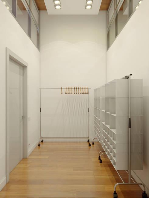 Closets minimalistas por Anton Medvedev Interiors
