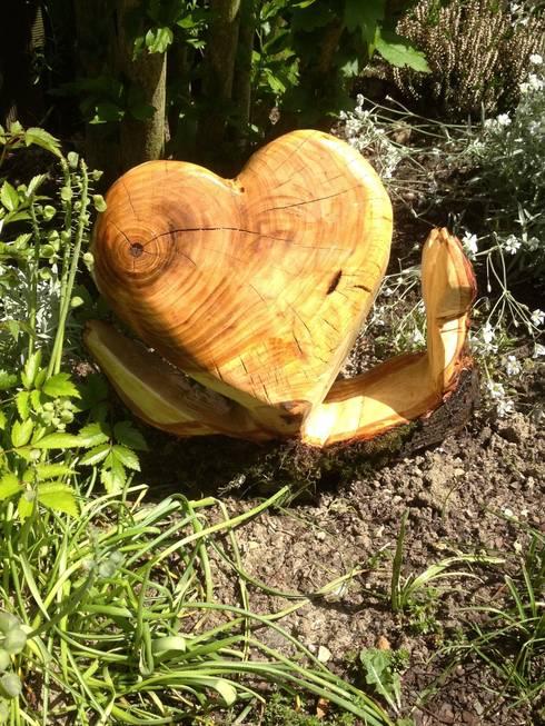 Herz:  Garten von Holzwerkerin Eving