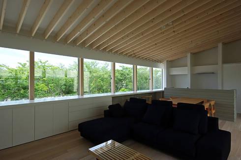 LDK: 空間建築-傳 一級建築士事務所が手掛けたリビングです。
