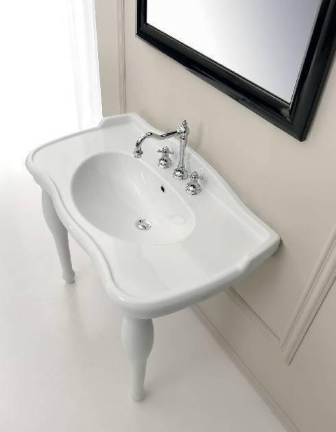 klassische waschtische mit der n tigen unterst tztung. Black Bedroom Furniture Sets. Home Design Ideas