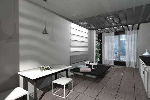 Living room.: modern Living room by Kay Studio
