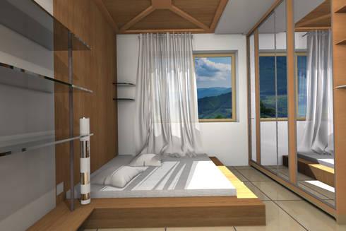 Bedroom.: modern Bedroom by Kay Studio
