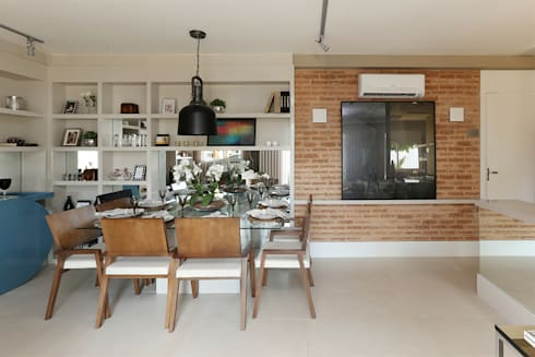 Paulinia   Decorados: Salas de jantar modernas por SESSO & DALANEZI