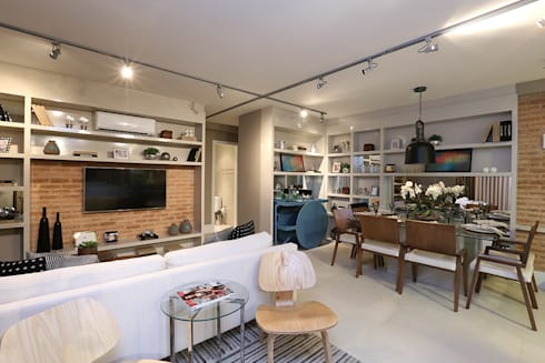Paulinia   Decorados: Salas de estar modernas por SESSO & DALANEZI