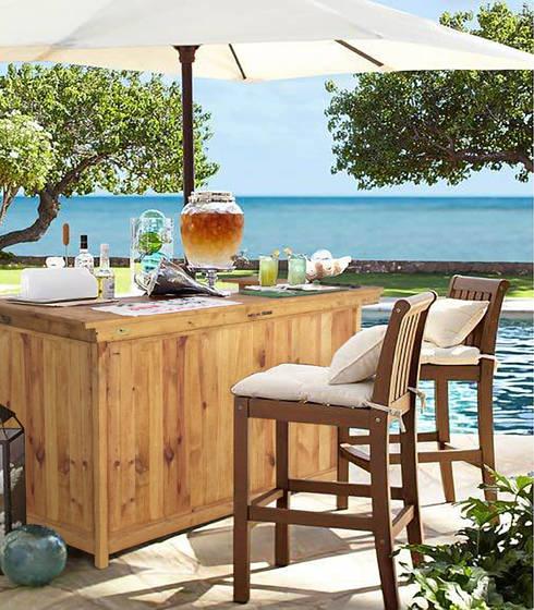 Barra Bar De Interior Exterior, Pino Oregon, Eterna: Jardines de estilo clásico por Mundo Garden