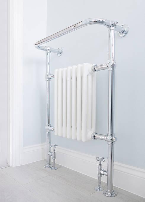 Heated rail: classic Bathroom by William Gaze Ltd