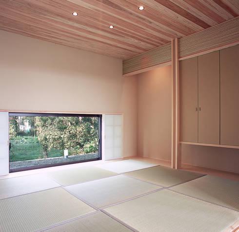 House K: 末永幸太建築設計 KOTA SUENAGA ARCHITECTS が手掛けた壁です。