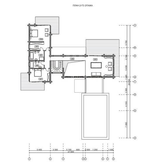 Projekty,   zaprojektowane przez NEWOOD - Современные деревянные дома