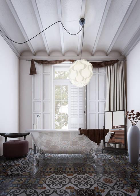 Apartamento: Baños de estilo escandinavo de 2vsarq