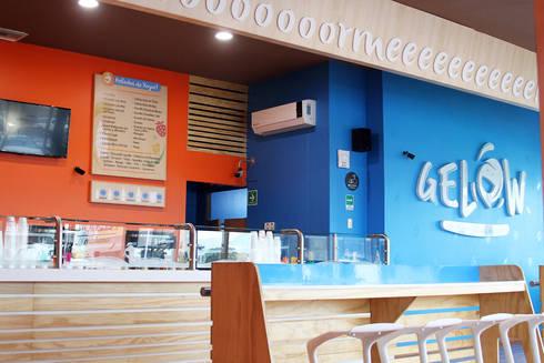 Gelow Raspados y nieve de yogurt: Espacios comerciales de estilo  por Vulca Studio