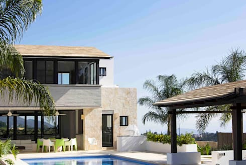 Casa Ixtapan de la Sal - Boué Arquitectos: Casas de estilo moderno por Boué Arquitectos