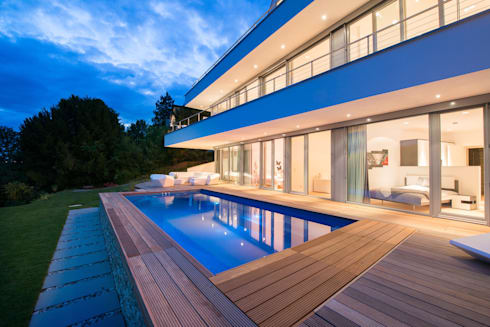 Moderne architektenhäuser mit pool  Moderne Hangvilla in Pforzheim by FLOW.Architektur | homify