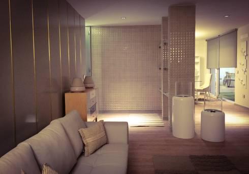 BARRO tiles at Lisbon Design Show: Salas de estar modernas por BARRO