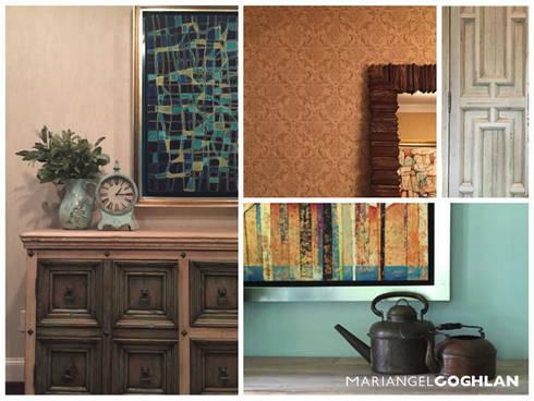 Complemento y accesorios.: Salas de estilo colonial por MARIANGEL COGHLAN