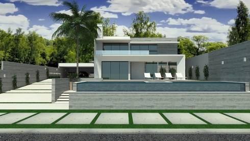 Residência em Cacupé - Florianópolis: Casas modernas por Cláudia de Andrade Arquitetura
