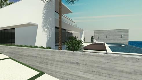 Residência em Cacupé – Florianópolis: Casas modernas por Cláudia de Andrade Arquitetura