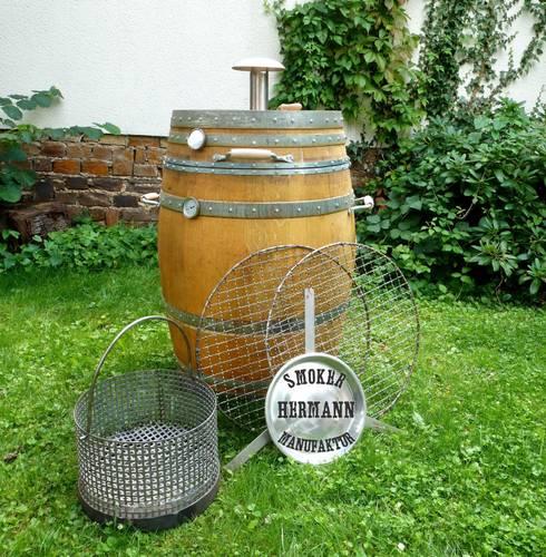 Barrique-Smoker mit Basiszubehör:  Garten von Hermann Maschinenbau GmbH