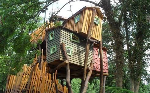 uniek overnachten in een boomhut door treego boomhut bouwers homify. Black Bedroom Furniture Sets. Home Design Ideas