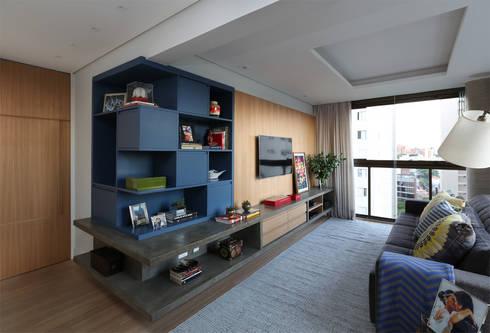 Cobertura – Pinheiros: Salas de estar modernas por MANDRIL ARQUITETURA E INTERIORES