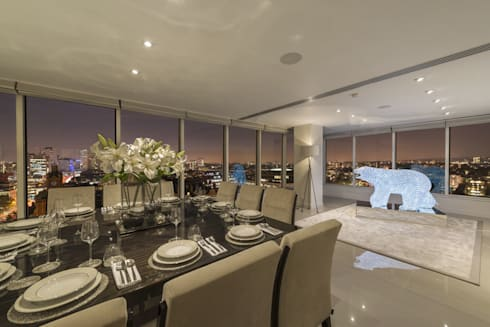 Luxury london penthouse apartment by porcel thin homify for Q dining room london